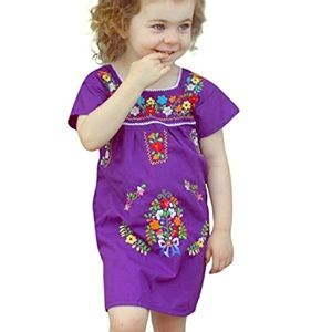 Multi color mexican girl dresses